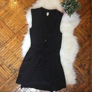 Gap Black Sleeveless Business Casual V-Neck Dress